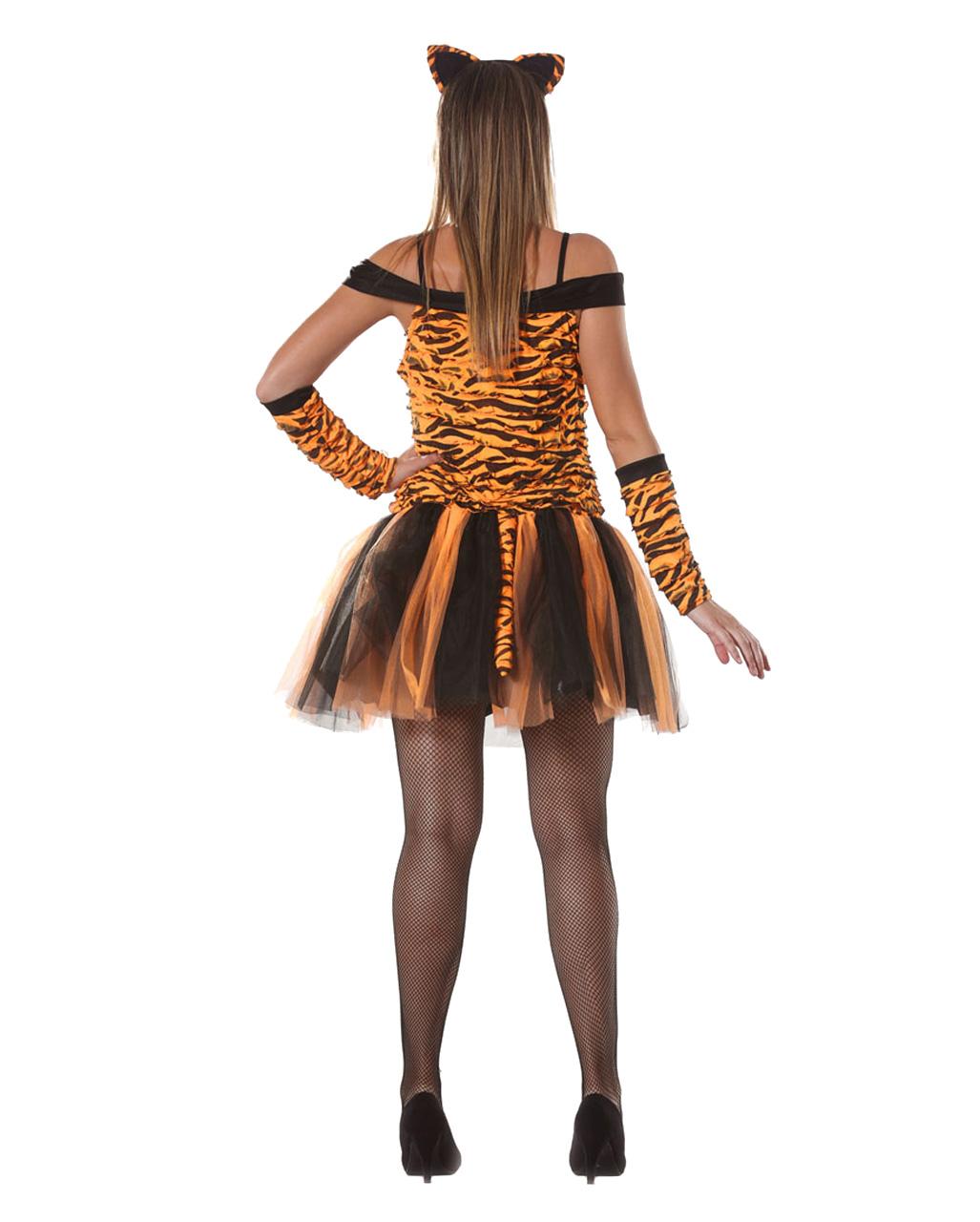 tiger damenkostuem mit zubehoer