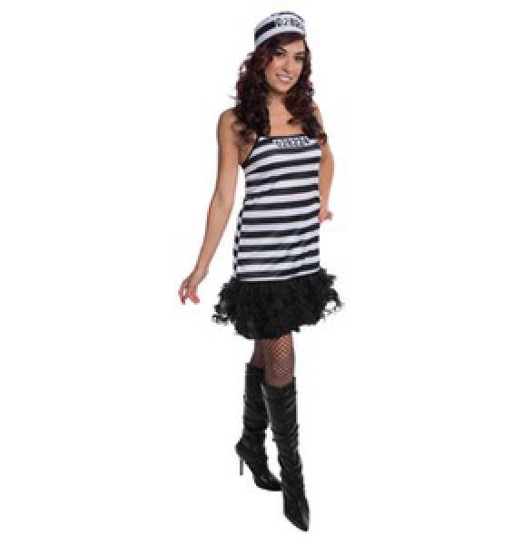 Karnevalskostueme Damen Straeflingskleid schwarz weiss
