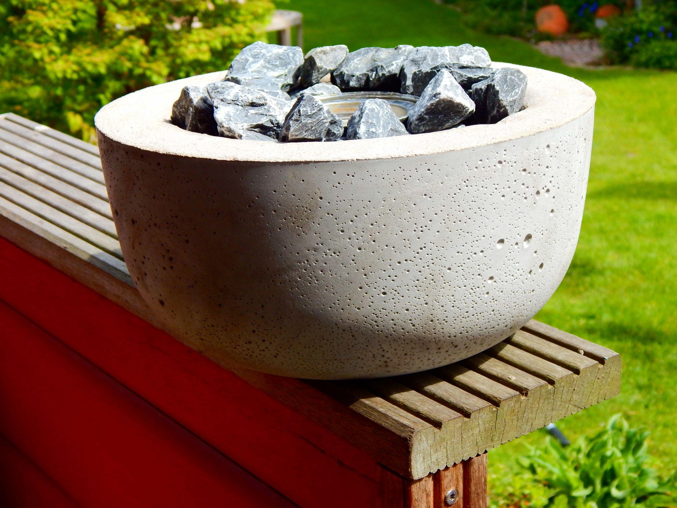 kleine feuerschale terrassenfeuer aus quick beton und dose mit basteln mit kindern sommer und ganzjahrig basteln mit kindern sommer und ganzjahrig