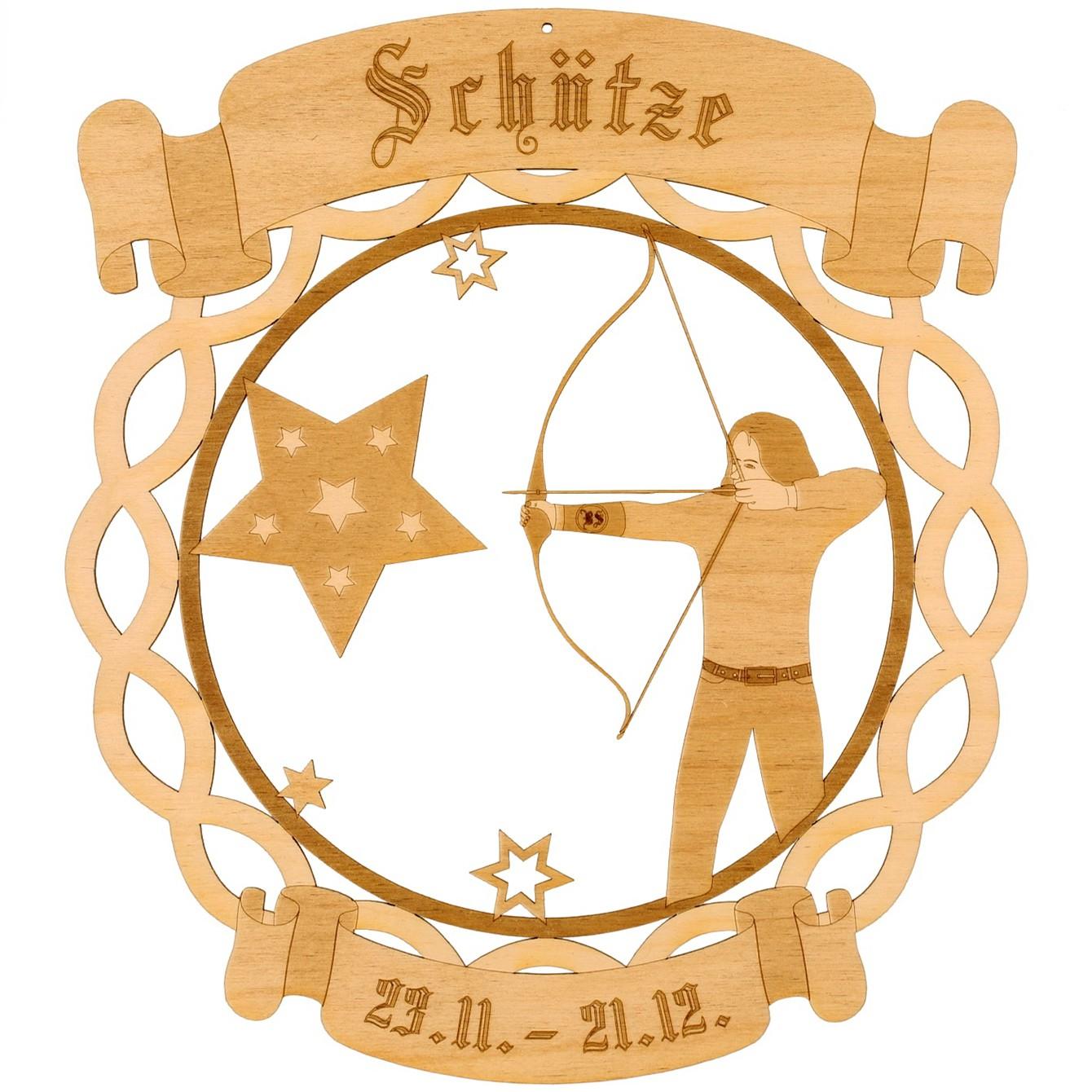 Sternzeichen Kranzform Fensterbilder Deko aus Holz 6 JPG