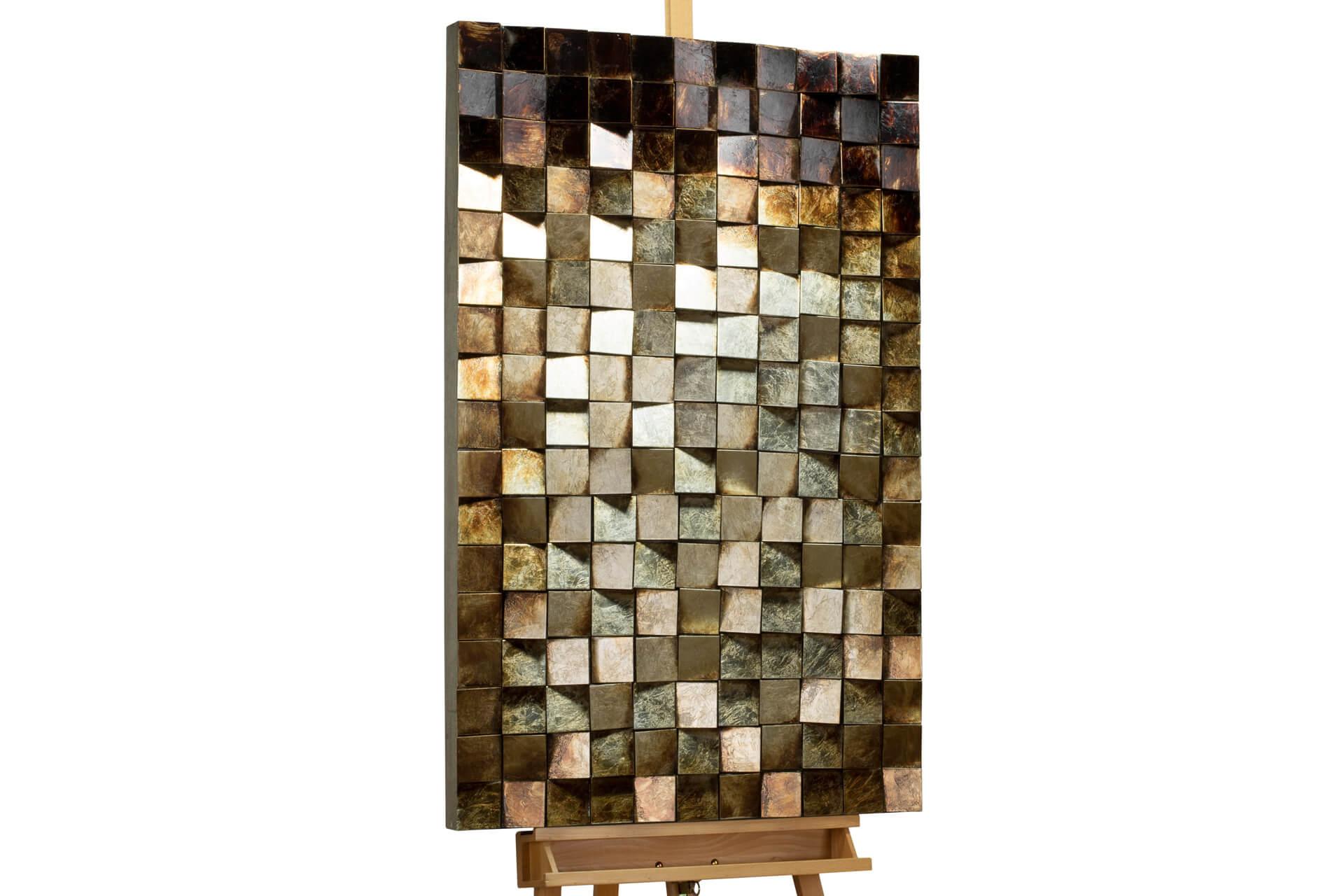 KL abstrakt grau braun holz bilder holz gemaelde relief handgefertigt modern 01