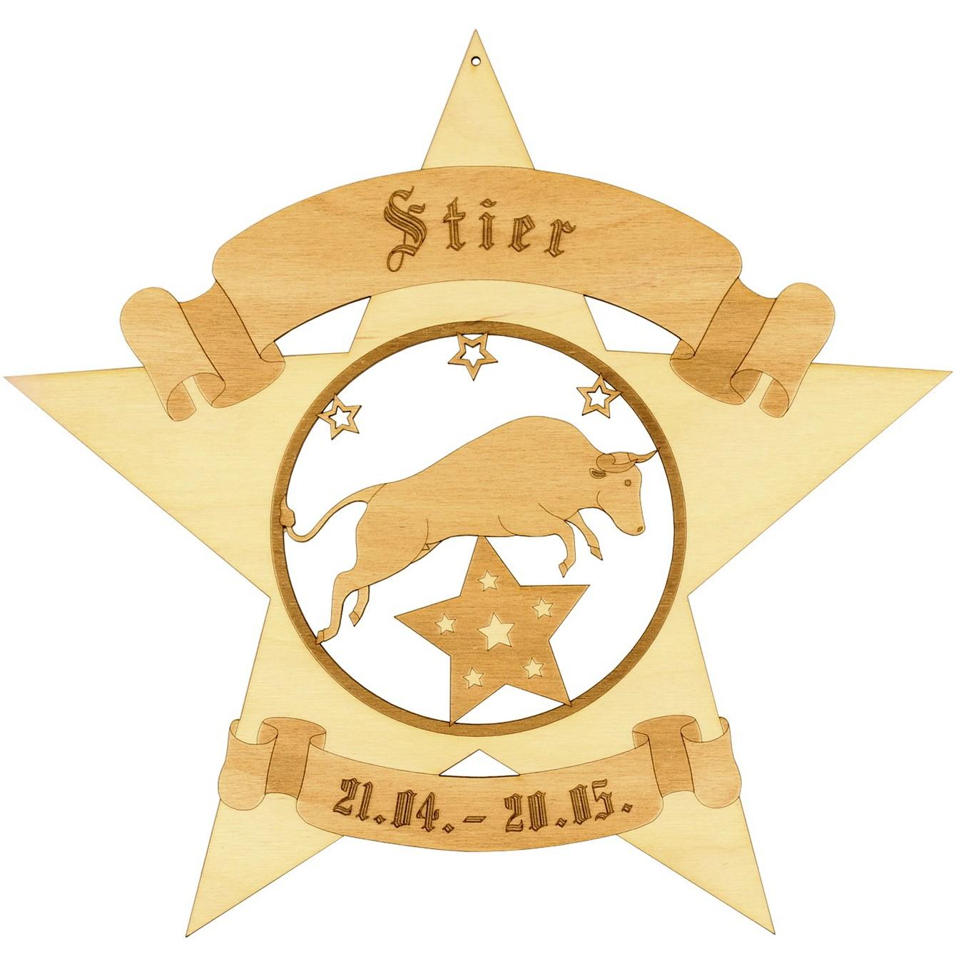 Sternzeichen Sternform Fensterbilder Deko aus Holz 3