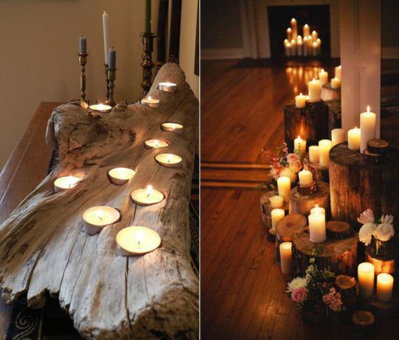 kerzen dekoideen fuer mehr romantik in den kalten wintertagen