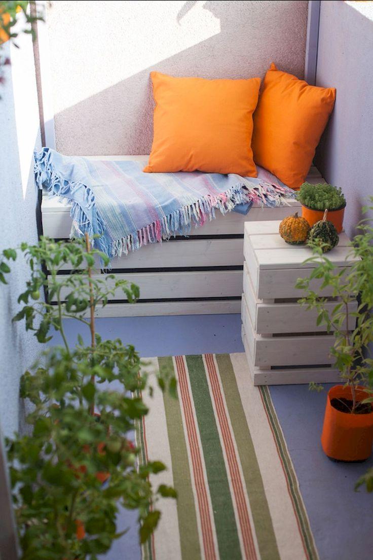 65 gemutliche Wohnung Balkon Deko Ideen