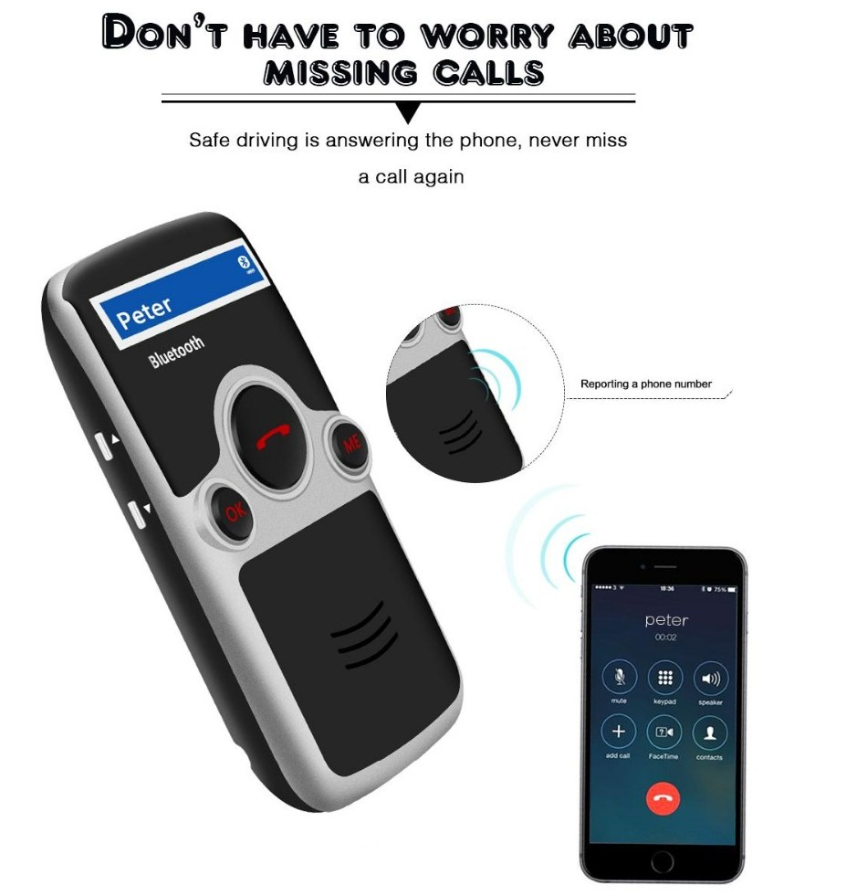 YOUCHUANGMEI A6 Solar Bluetooth handsfree car fm font b Stereo b font Transmitter many Language Display