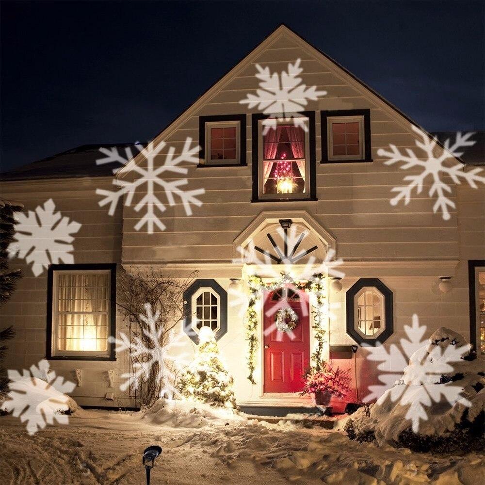 Adeeing Outdoor Schneeflocke LED B hne Licht Garten Moving Schnee Laser Projektor f r Weihnachten Party