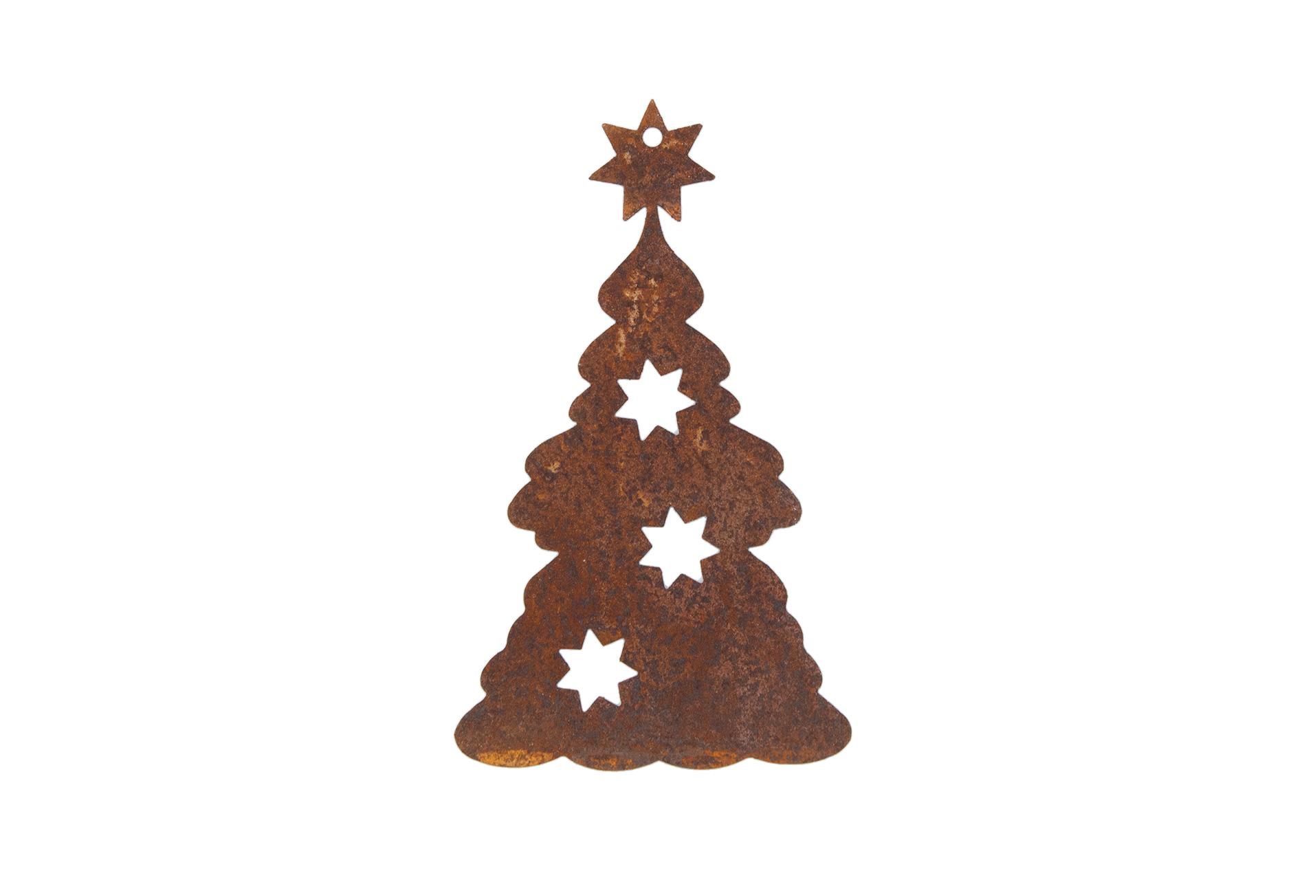 weihnachtsbaum tannenbaum zum hangen edelrost 14 cm 3869