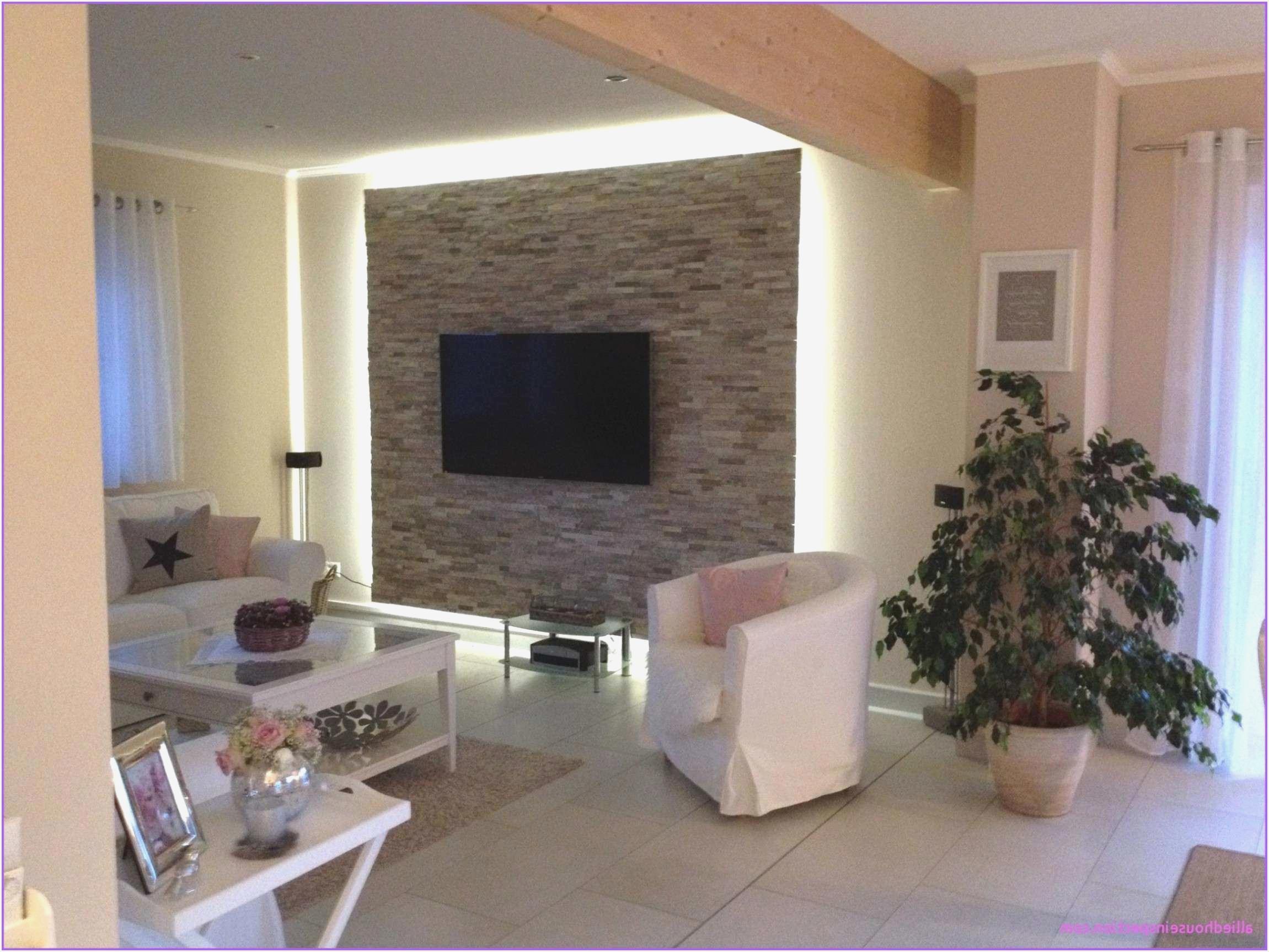 deko stein tapete wohnzimmer ecke
