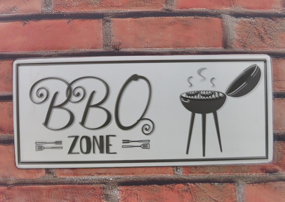 Blechschild BBQ Zone1 1
