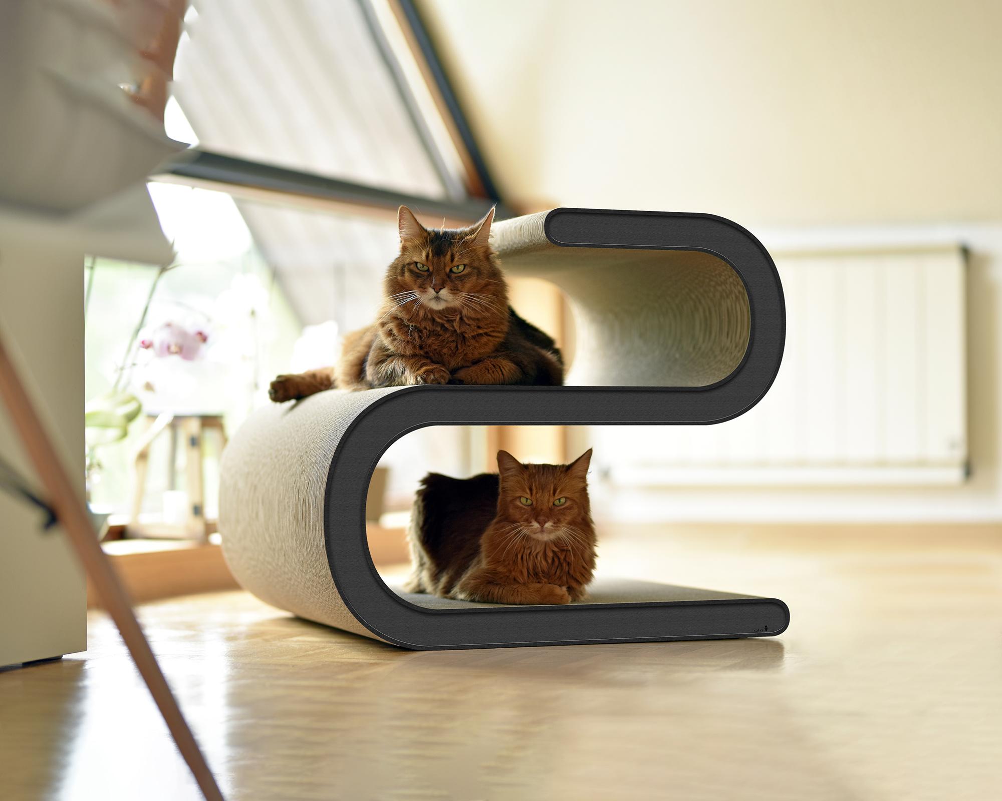 design katzen kratzbaum cat on ligne s xl 013h made in germany anthrazit 013h