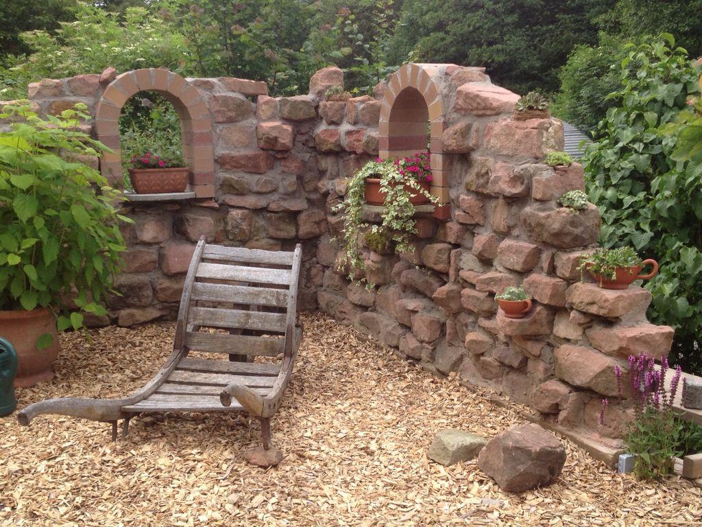 Deko Mauer Im Garten Schön Ruinen Deko Mauer Aus Alten Sandsteinen