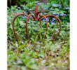 Deko Rost Garten Neu Crown Iron Lily Garden Decoration Rust Antique Style 24cm