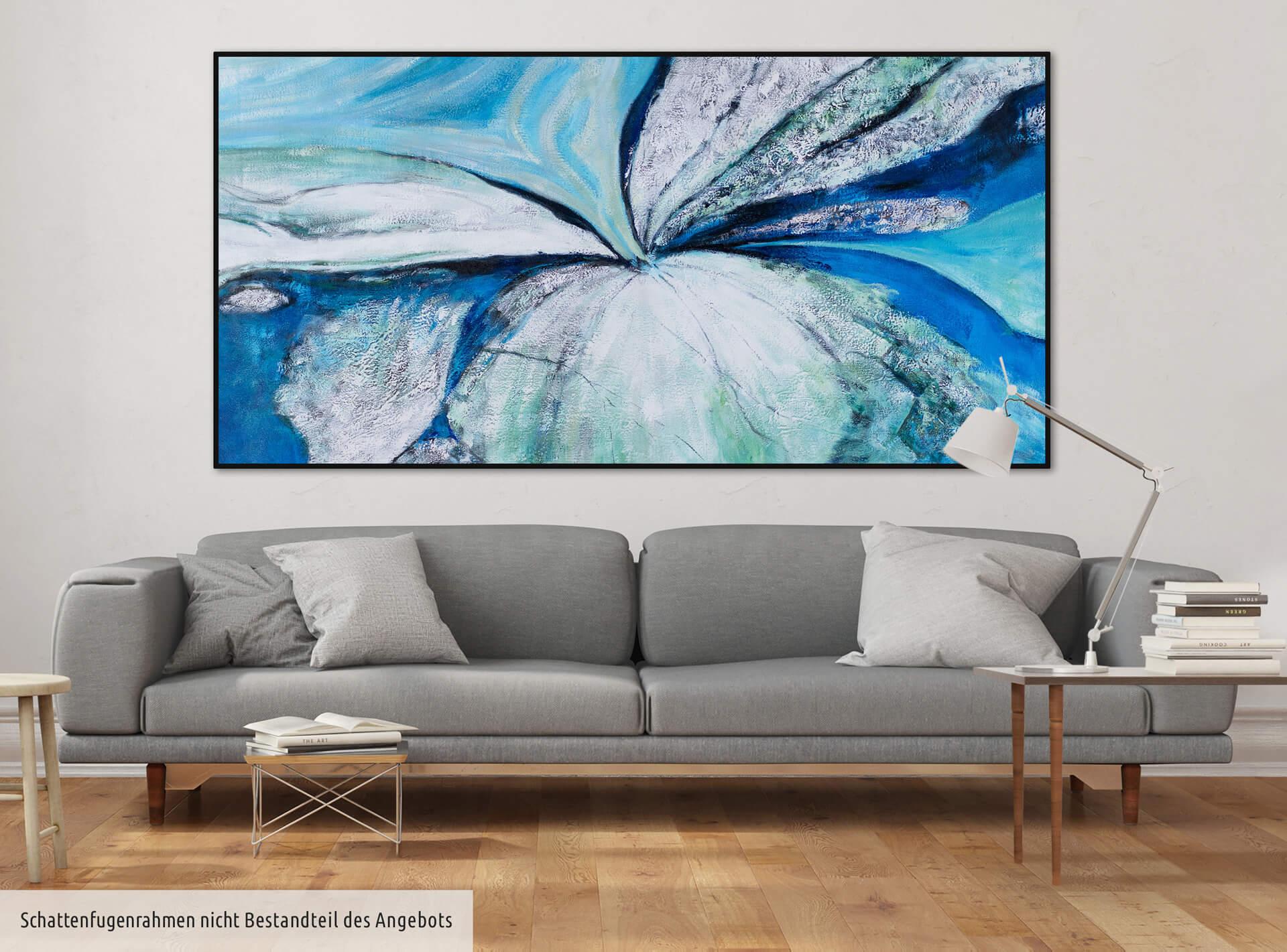 kl abstrakt spirale blau gruen modern acryl gemaelde oel bild 0001 08