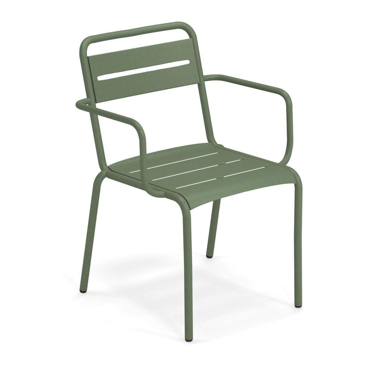 garten stuhl schon star 162 set of 4 garden chair with armrests by emu of garten stuhl