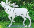 Deko Tiere Aus Metall Einzigartig Gartenfigur Hirsch Röhrend