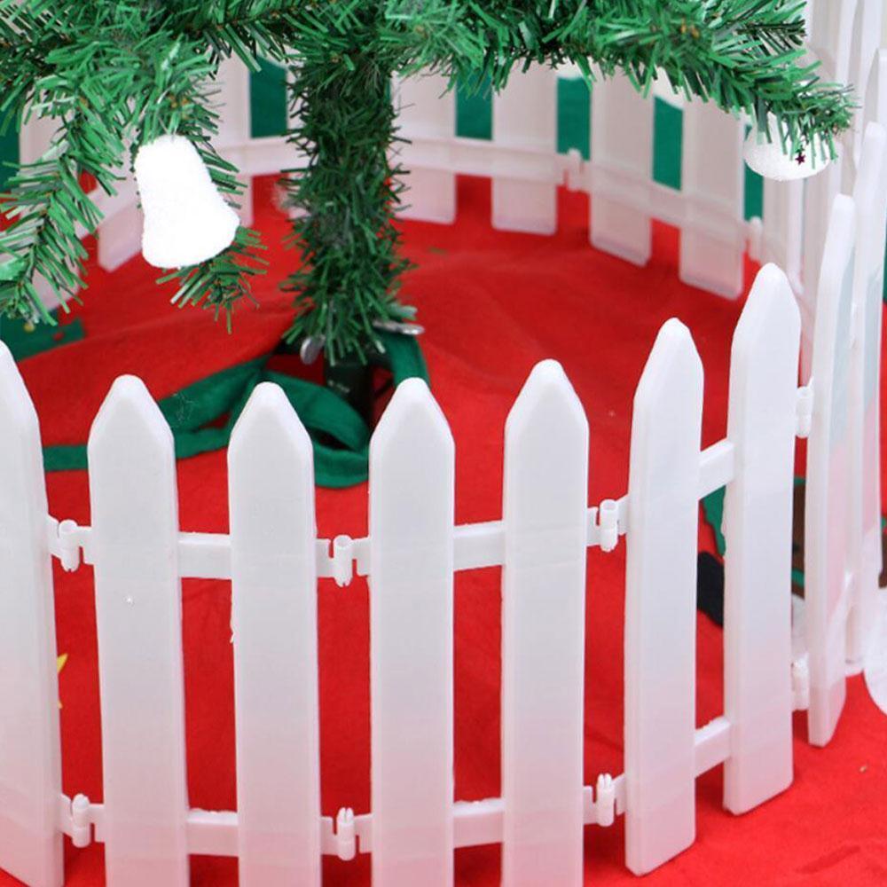 Weihnachten Baum Zaun Decor Home Garten Festival Party Dekoration Wei Kunststoff