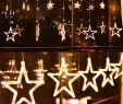 Deko Weihnachten Garten Genial Led Vorhang Mit Beleuchteten Sternen 2 5meter 1meter Warmweiß Für Weihnachten Party Deko Schmuck Fensterdeko Schaufenster Girlande Dekoration