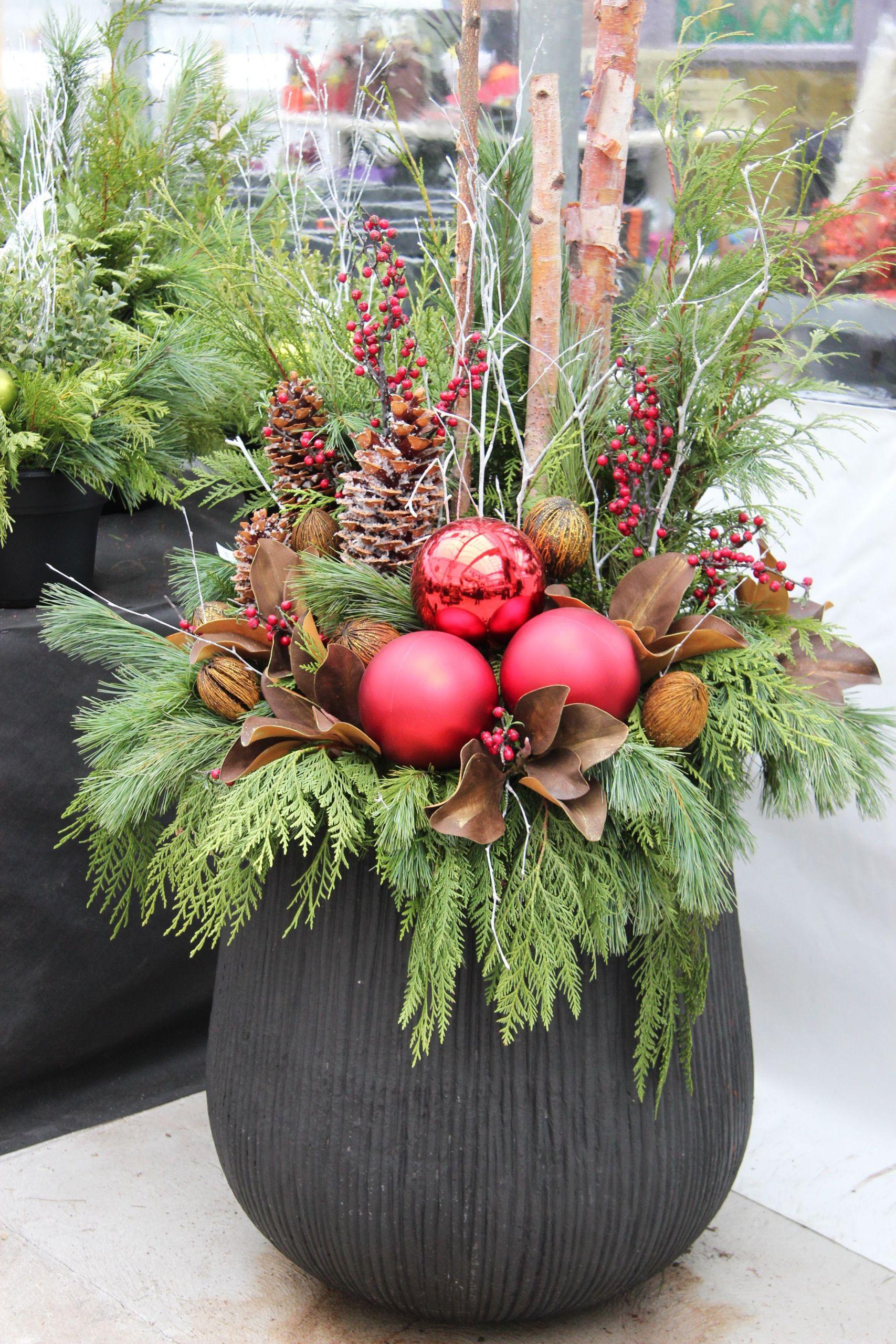 Deko Weihnachten Garten Genial Outdoor Christmas Planter More