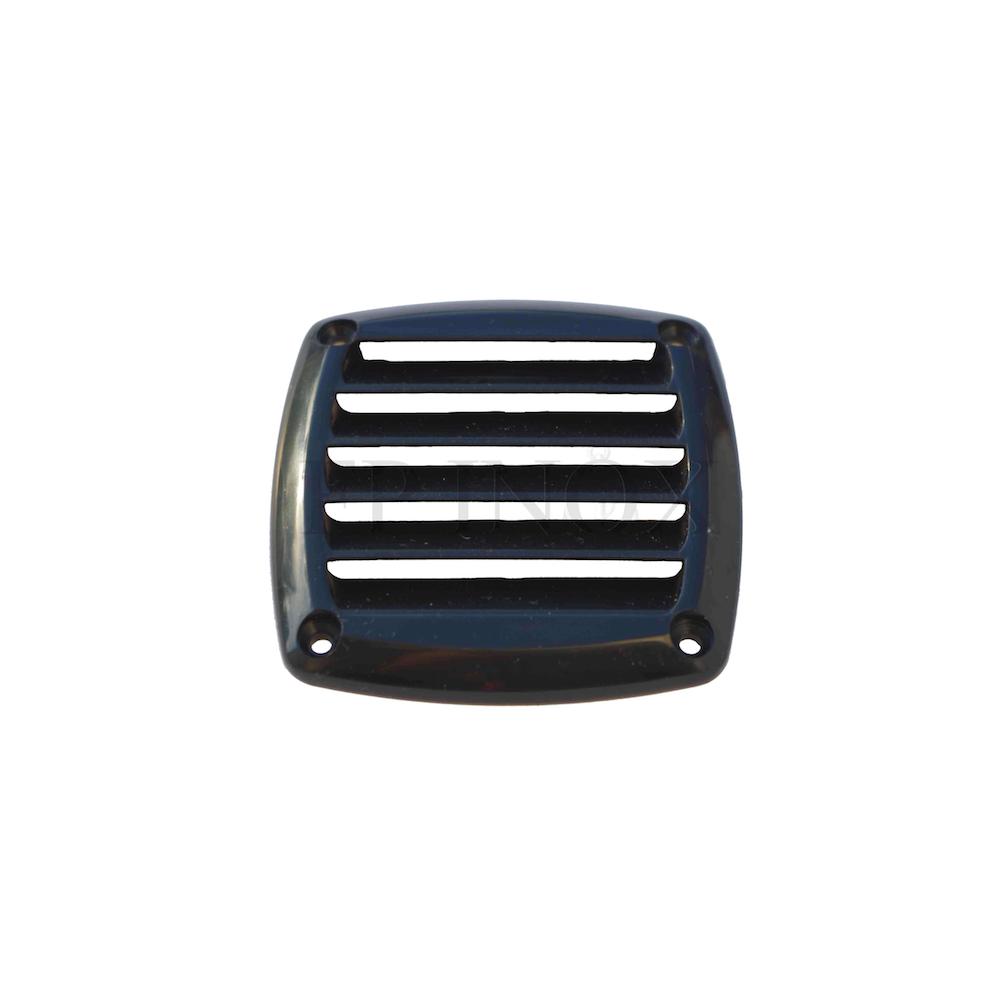 grille d aeration carree noir 85 x 85 mm