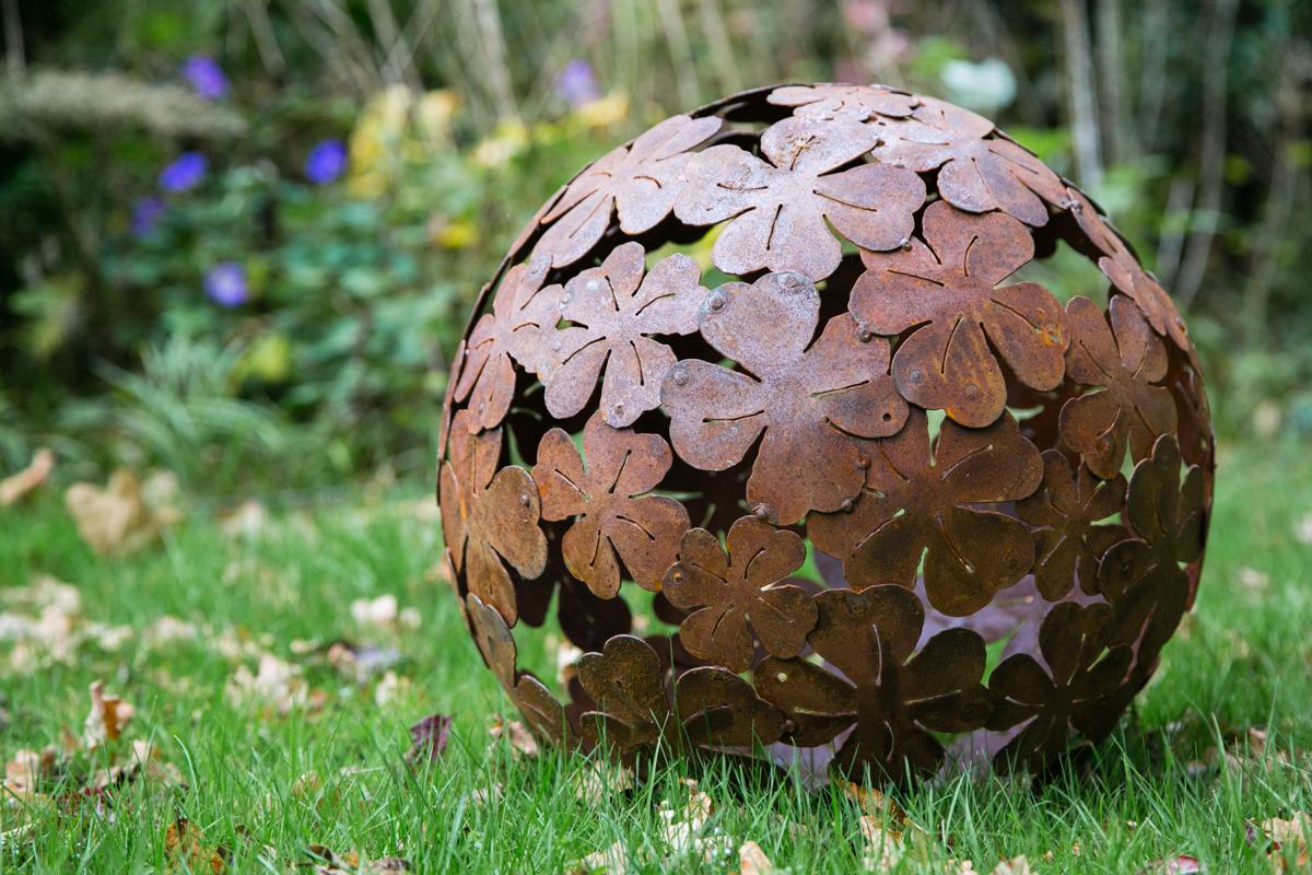 Dekokugel Rost Luxus Kuheiga Dekokugel Rost ˜ 50cm Klee Gartendeko Gartenkugeln