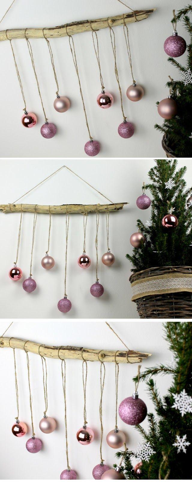 Dekoration Basteln Schön ☆ Diy Ausgefallene Weihnachtliche Wanddekoration Aus