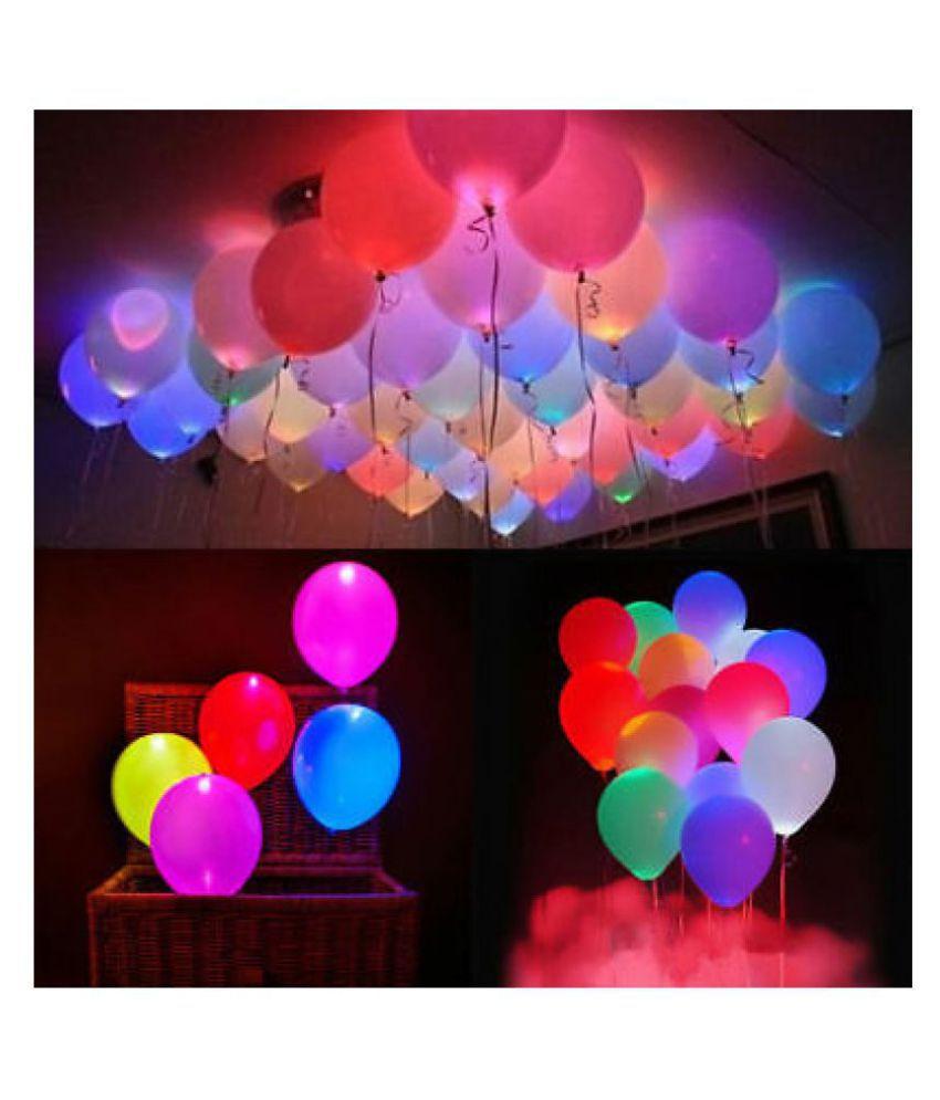 15 Pcs Multicolor LED Balloons SDL 1 63a57
