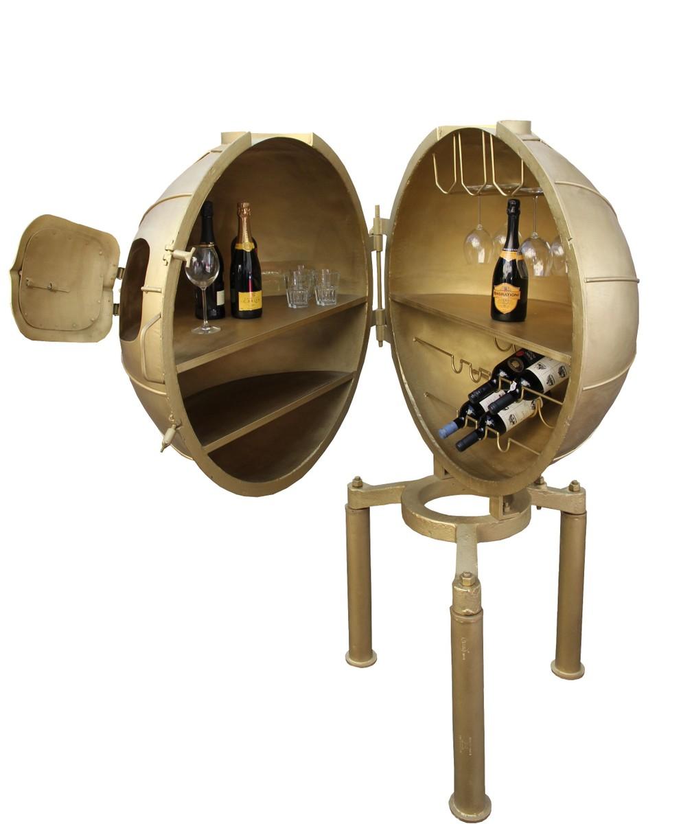 Casa Padrino Luxus Metall Getraenke Bar Gold Wein 1