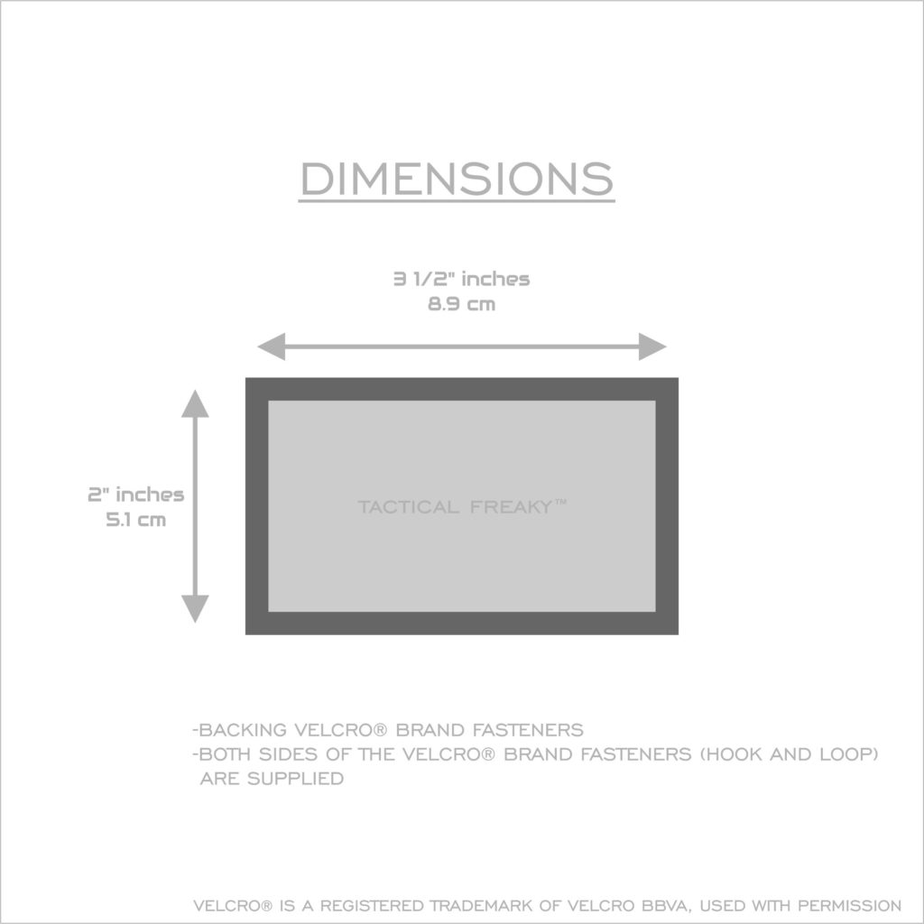 2x3 5 dimensions velcroBacked 01