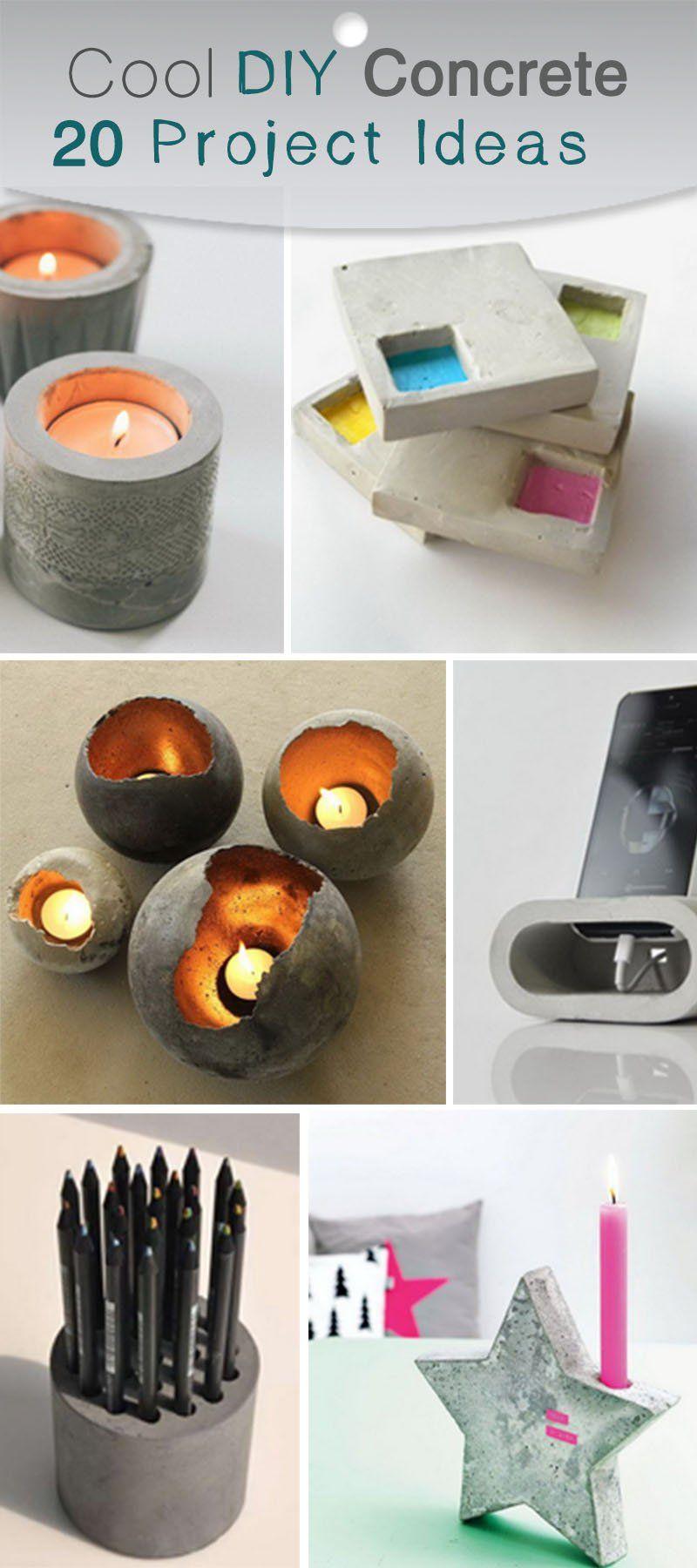 Diy Beton Schön Cool Diy Concrete Project Ideas гРина Репка