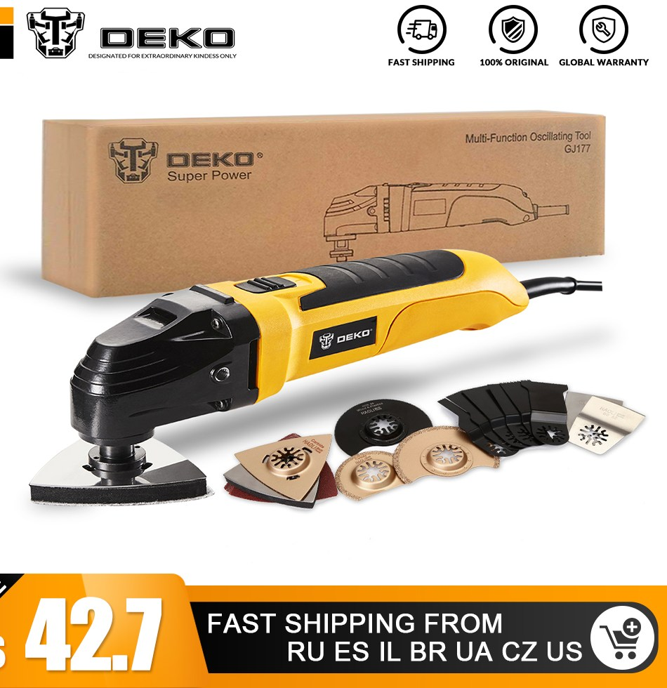 font b DEKO b font 220V Variable Speed Electric Multifunction Oscillating Tool Kit Multi Tool