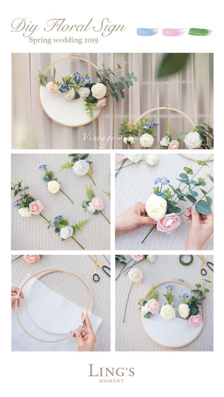 Diy Ideen Deko Best Of Diy Floral Sign