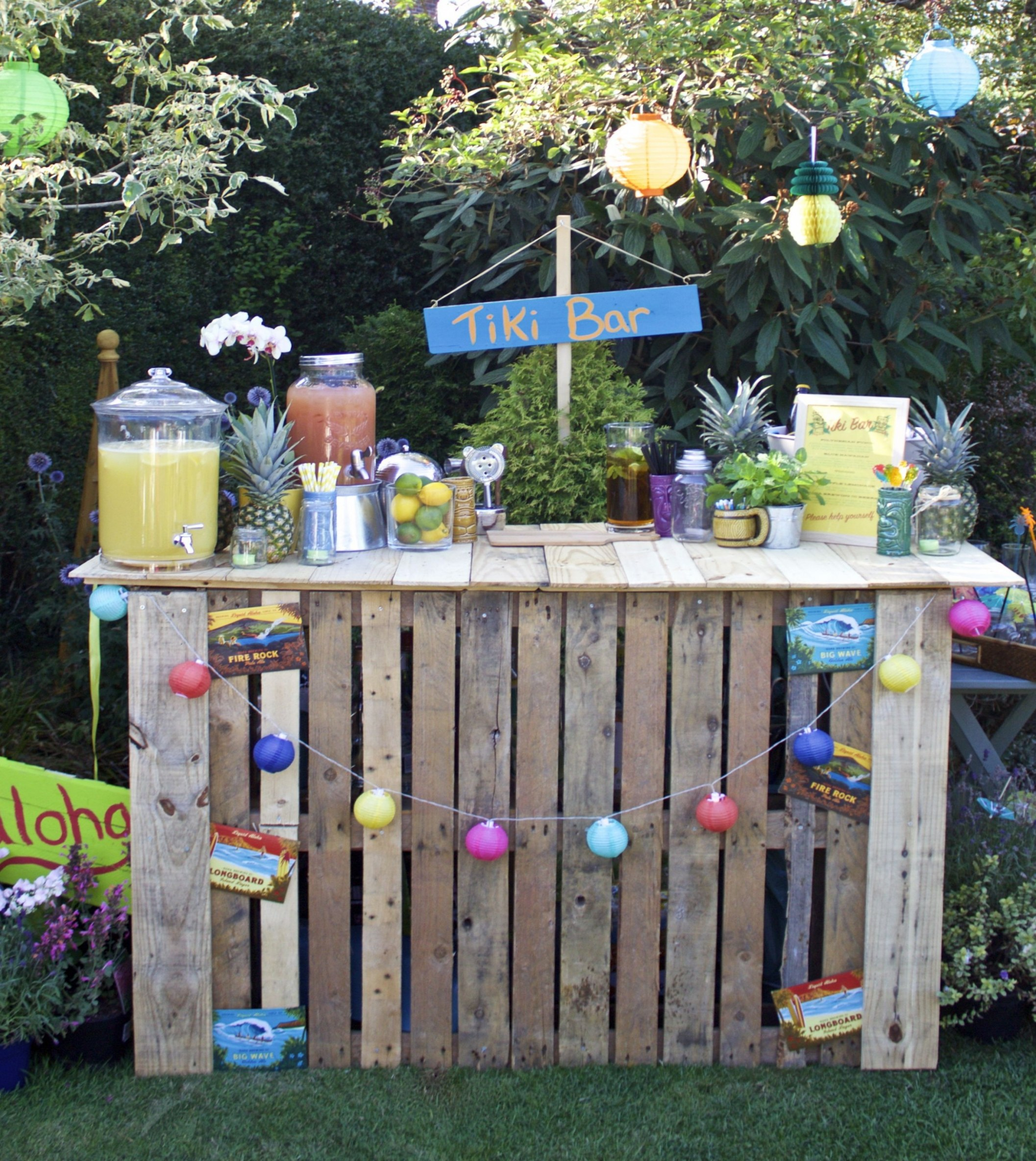 party decoration ideas diy diy pallet tiki bar for garden party luau party pinterest of party decoration ideas diy
