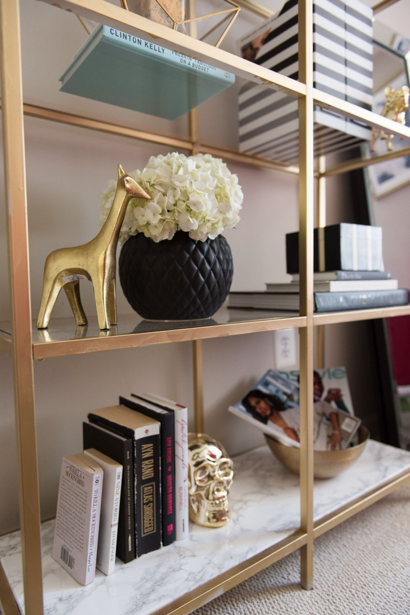 diy gold and marble ikea bookcase hack billy regal hacks billy regal hacks