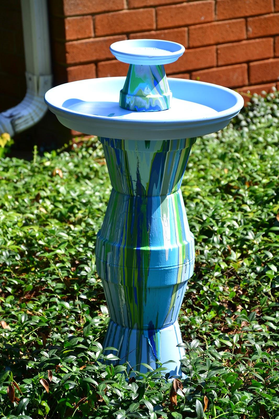 Floral pot bird bathFloral pot bird bath1