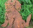 Edelrost Gartendeko Inspirierend Rostsäule Wolf Edelrost Gartendeko Metall Rost Ohne