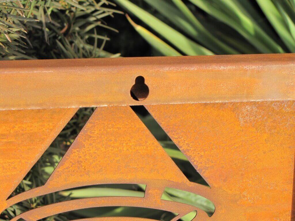 Edelrost Luxus Garten & Terrasse Teichdeko Gartendeko 3 Wandbilder