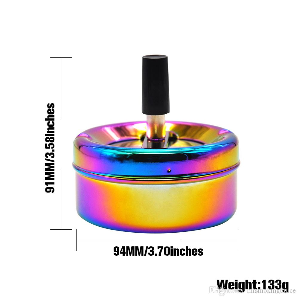 premium regenbogen farbe edelstahl aschenbecher