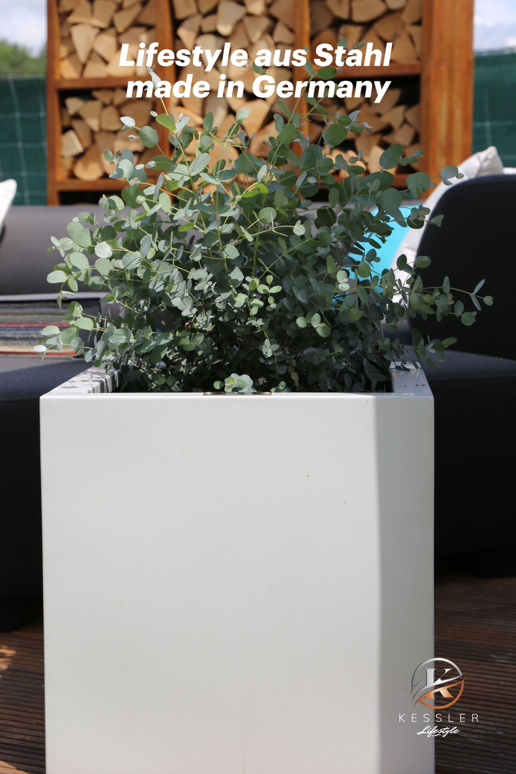 Edelstahl Gartendeko Neu Lifestyle Pflanzkübel In Allen Variationen Aus Rostfreiem