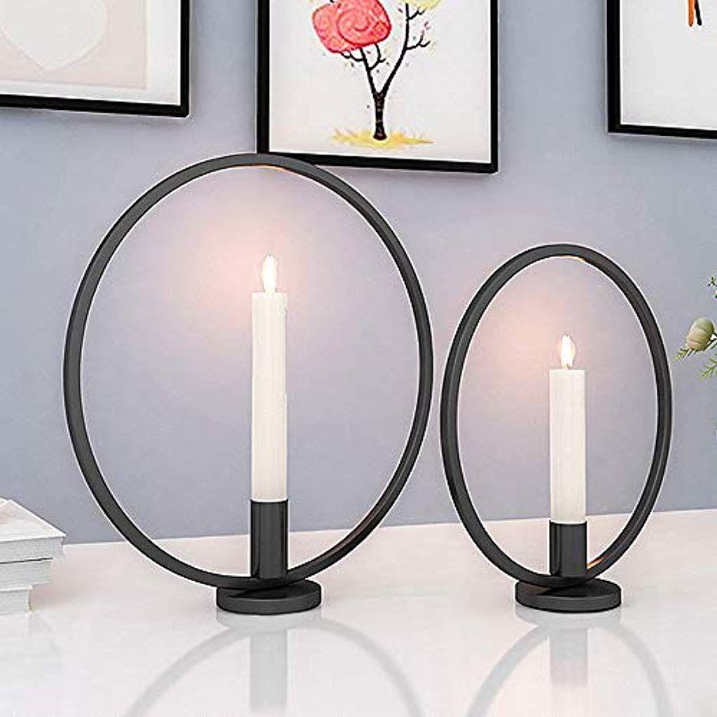 Eisen Deko Schön Gomaihe Retro Kerzenhalter 2 Set In Unterschiedlicher Größe