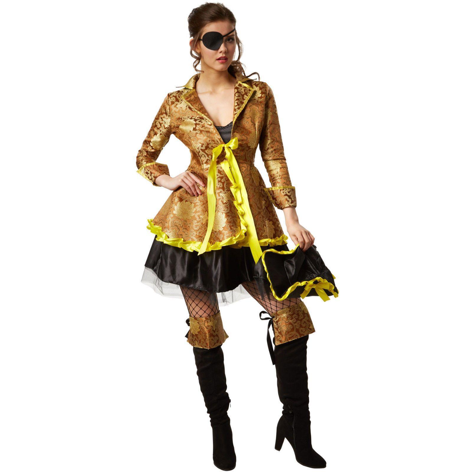 Fasching Damen Frisch Werbung Frauenkostüm Korsarin Piratenkostüm Seeräuber