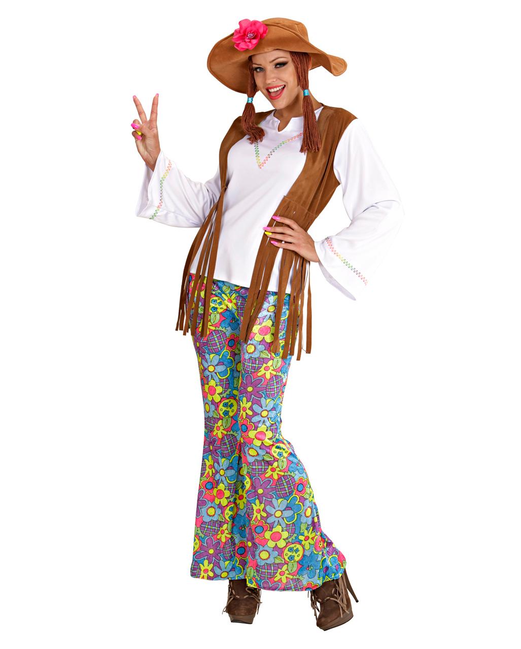 hippie frauen kostuem mit zoepfen gr m