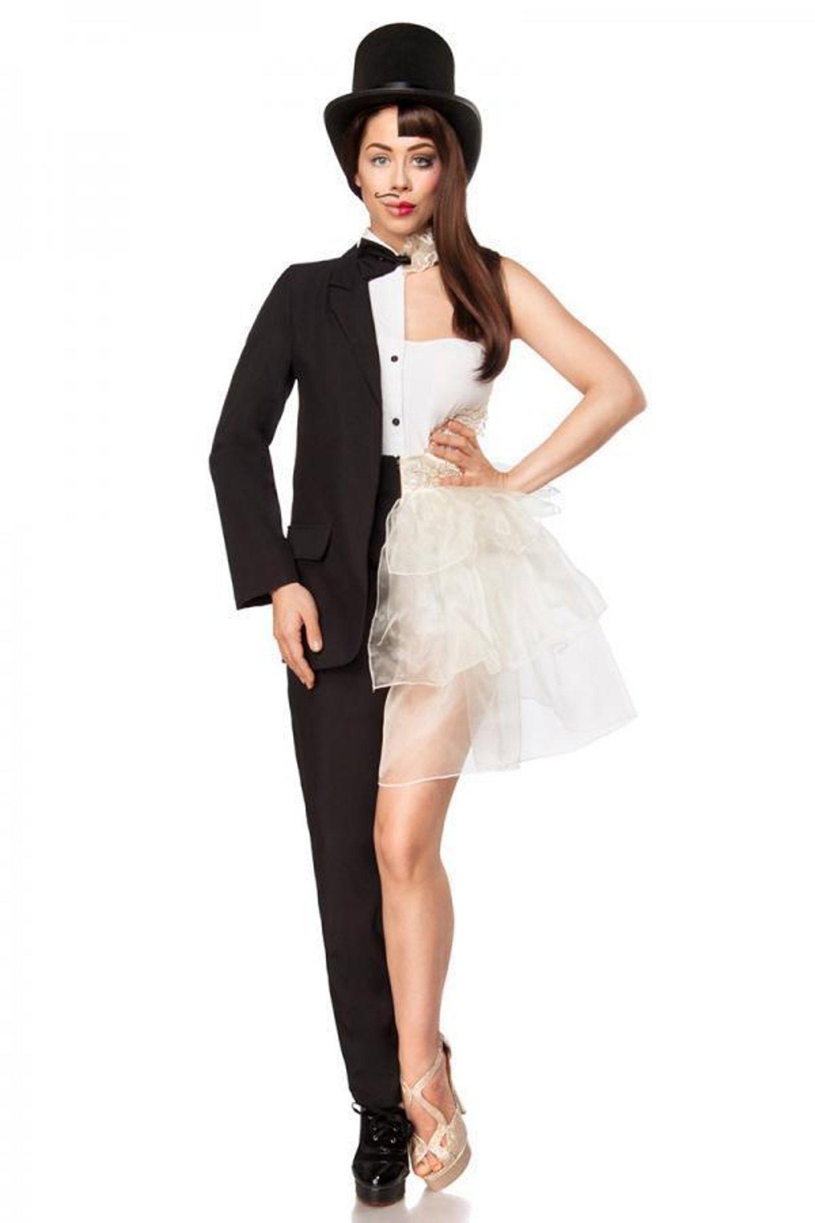 Faschingskostüme Frauen Genial Exklusives Mannfrau Kostüm Für Damen Fasching Schwarz