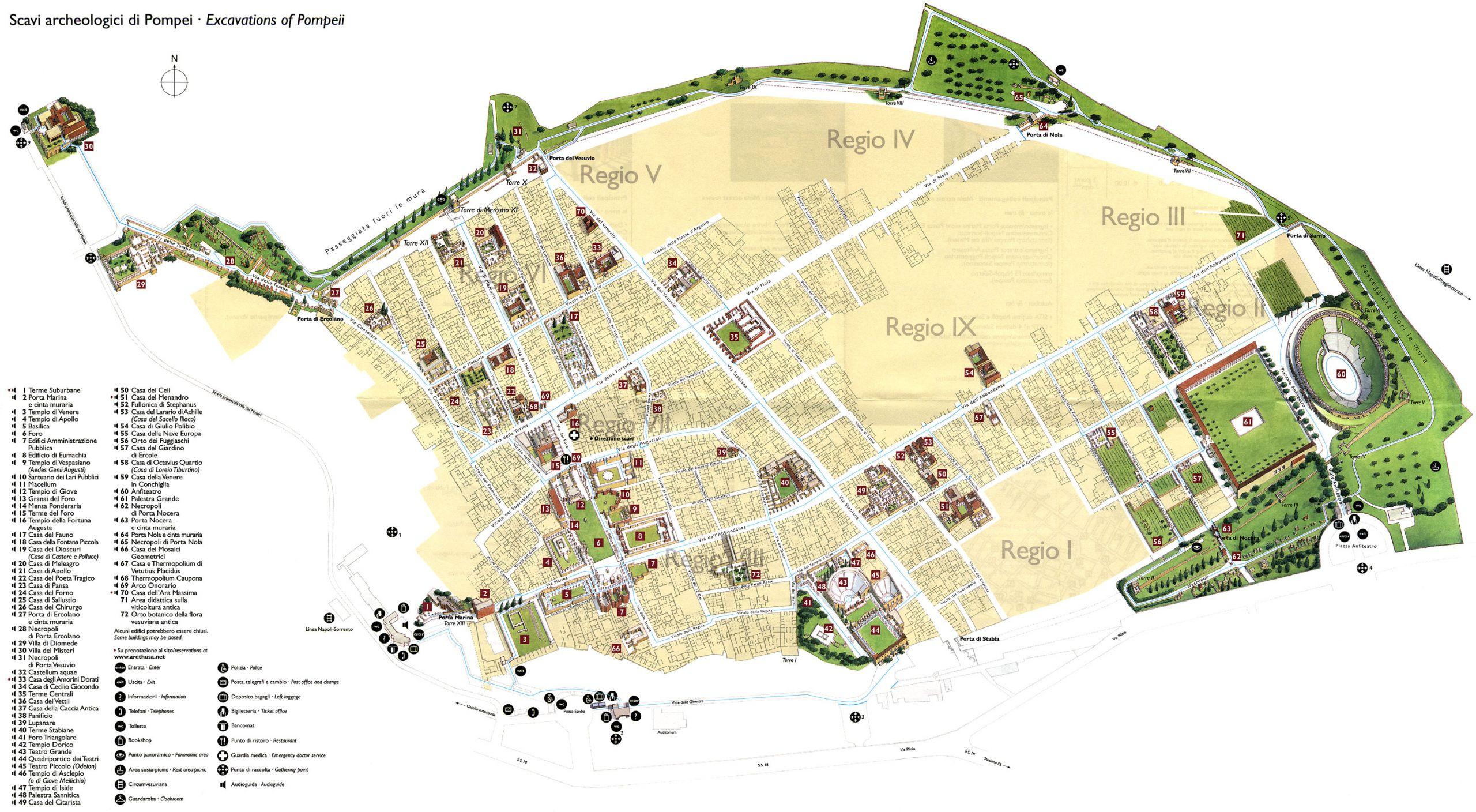 Scavi archeologici Excavations Pompeii