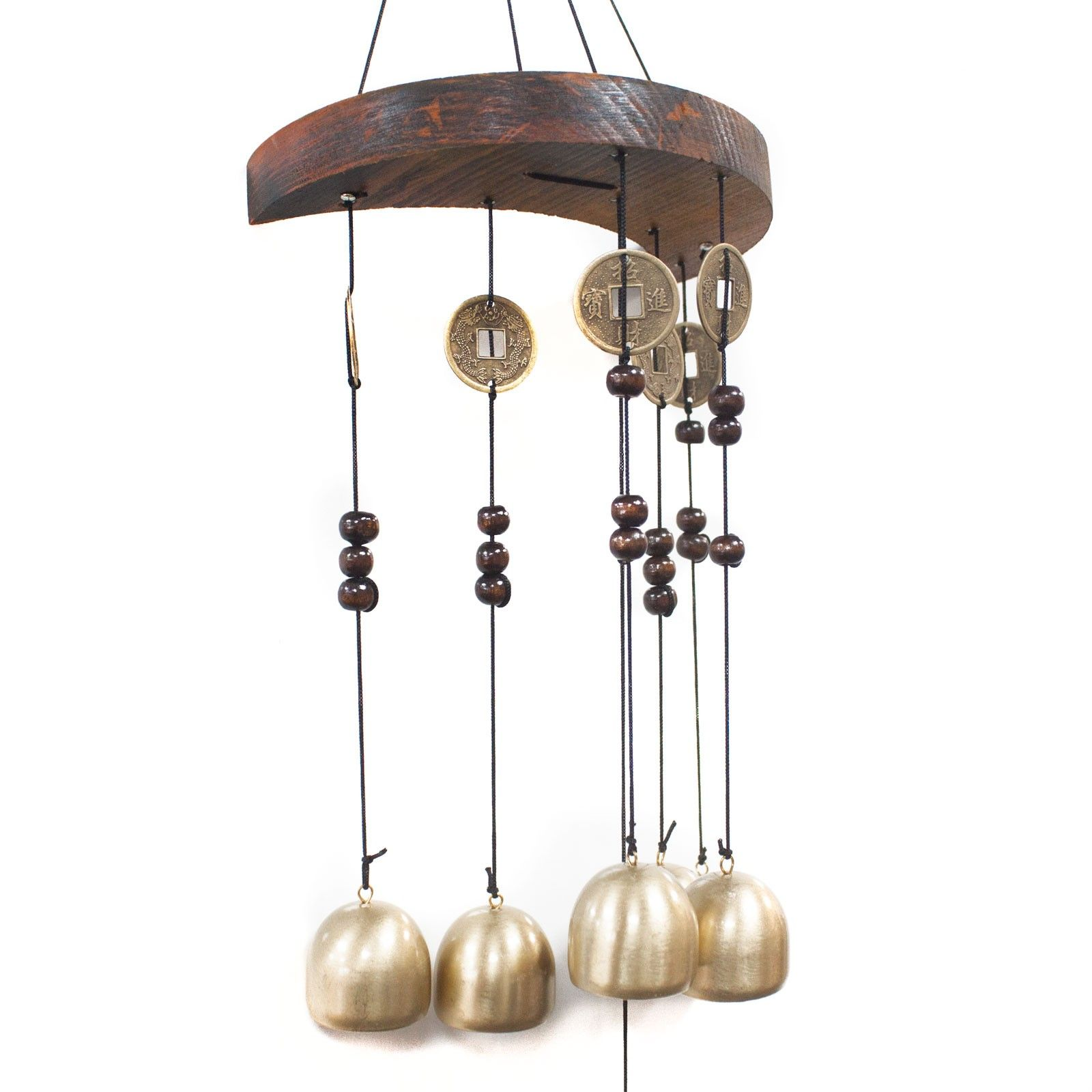 feng shui chimes moon and 6 bells coins 3599 p