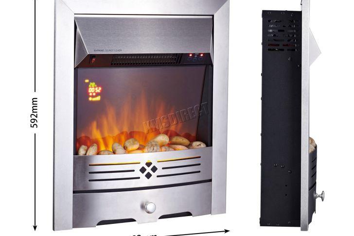 Flamme Rost Elegant Détails Sur Poªle électrique Incen Maison 2000 W Effet Flamme Gaz Cheminée Look 3 Designs Afficher Le Titre D origine