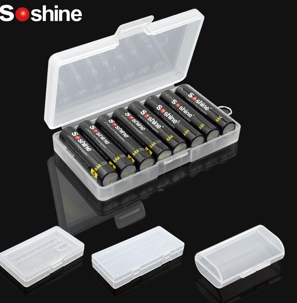 Hard Plastic Case Holder Storage font b Box b font Cover for 2x 4x 8x AA