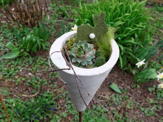 Frühlingsdeko Für Den Garten Inspirierend Frühlingsdeko Aus Beton Für Den Garten