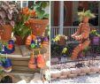 Frühlingsdeko Für Den Garten Schön tontopfmännchen Mit Blumenhaaren Für Den Garten