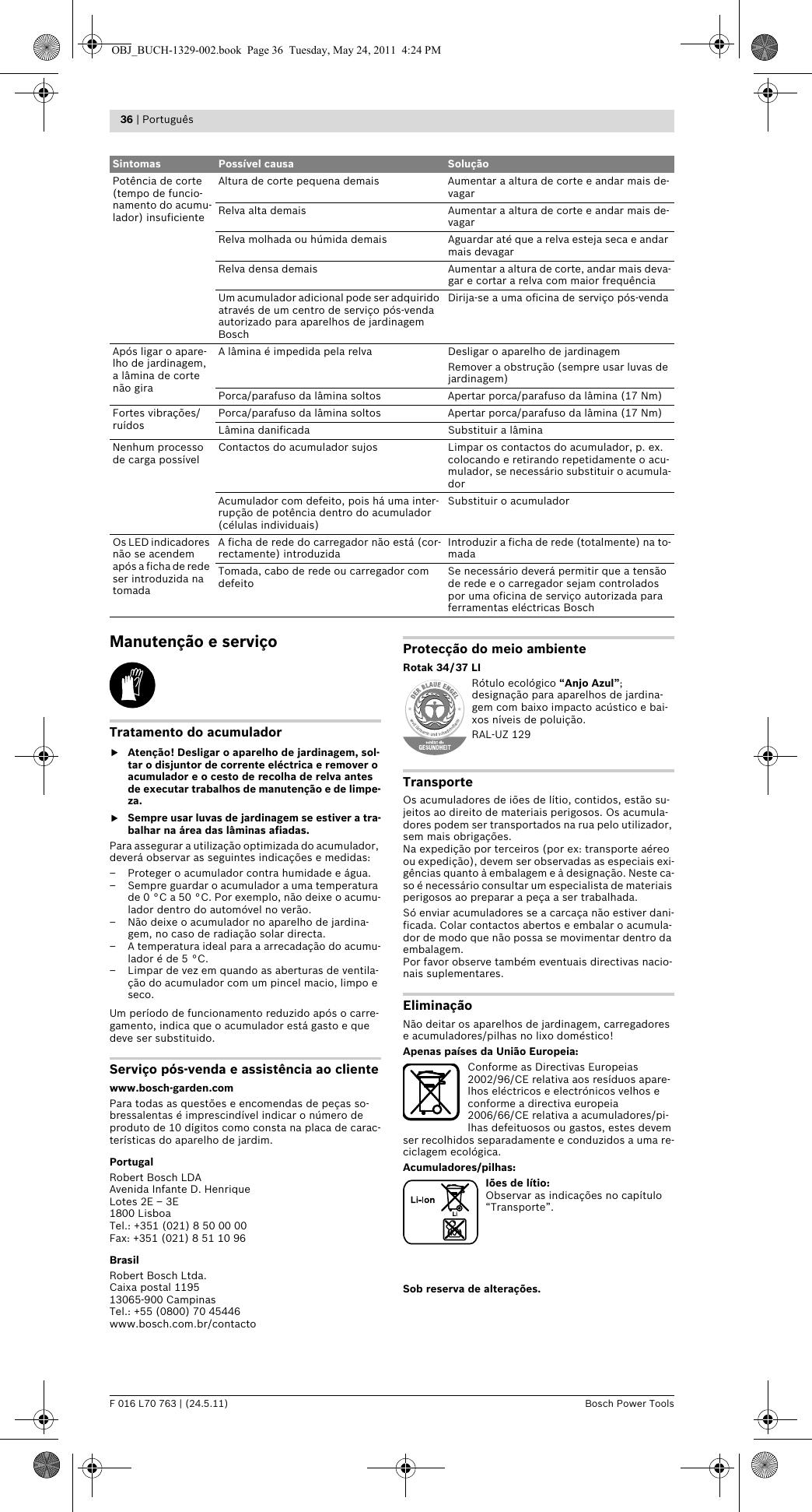 BoschRotak37Li User Guide Page 36