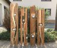 Garten Deko Holz Neu Altholzbalken Mit Silberkugel Modell 8